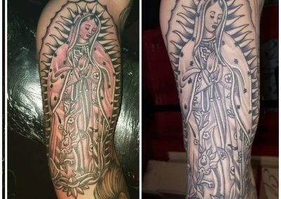 "Fully healed ""La Virgen Morena"""