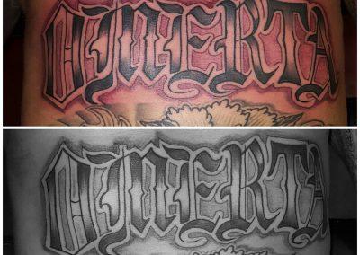 Letters op je buik doen pijn 😎🤘