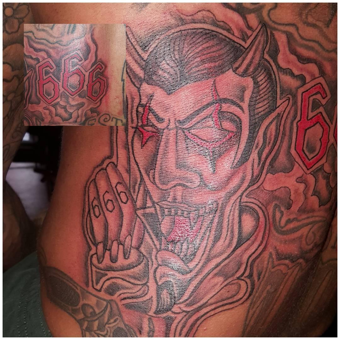 Satan 666 on my friend M??